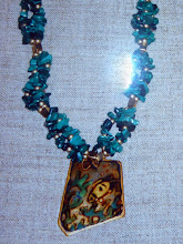 Photo: Copper enamel pendant, malachite, 14K gold vermeil  SOLD/ПРОДАНИЙ