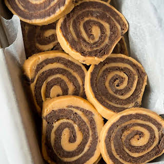 No Bake Chocolate Peanut Butter Pinwheels.