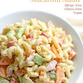 Classic American Macaroni Salad (Gluten-Free, Vegan).