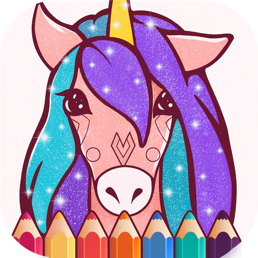 Animated Glitter Coloring Book Unicorn Aplikasi Di Google Play