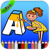 ABC Coloring Page for Kids Pro