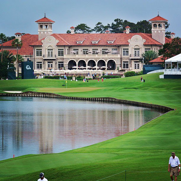 Photo: It's a rainy day at TPC Sawgrass, but the clubhouse still looks as incredible as ever.