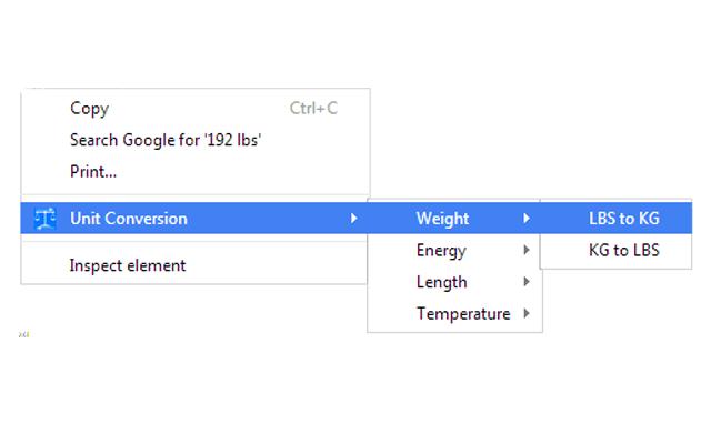 Right-Click Unit Converter