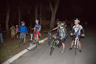 Photo: getting ready for the night ride