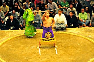 Photo: Yumitori shiki - the closing ceremony.