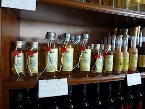 Photo: Plenty of Grappa, distilled liquor from left over grapes for wines.