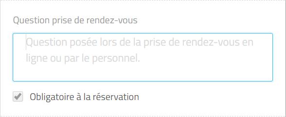 question lors de la réservation