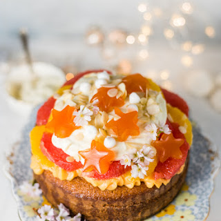 Citrus Trifle Cake With Orange Blossom Pastry Cream.