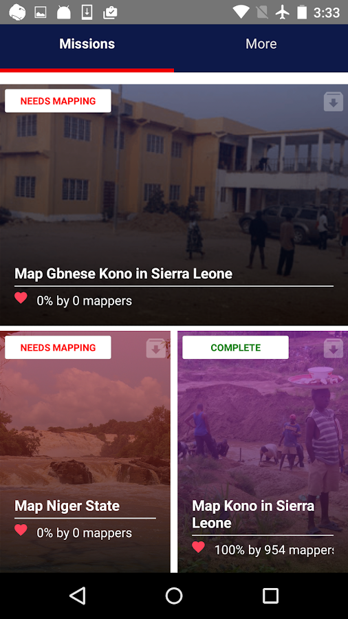 Mapswipe- screenshot