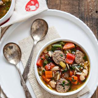 Italian Sausage Orzo Soup.