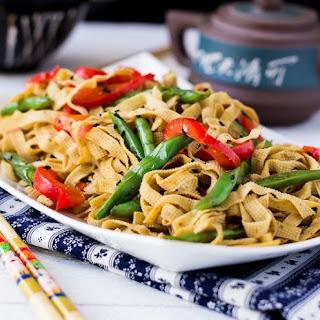 Vegan Chinese Tofu Noodles Stir-fry