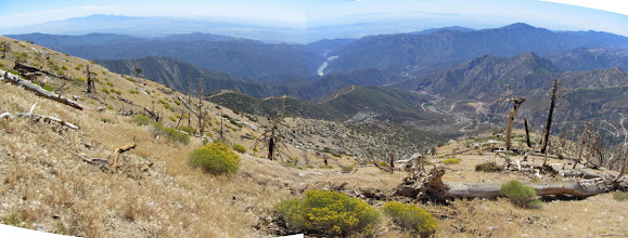 Photo: View south from the south flank of So. Mt. Hawkins. Amazing panorama!