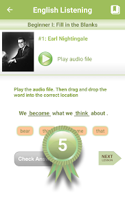 English Listening- screenshot thumbnail