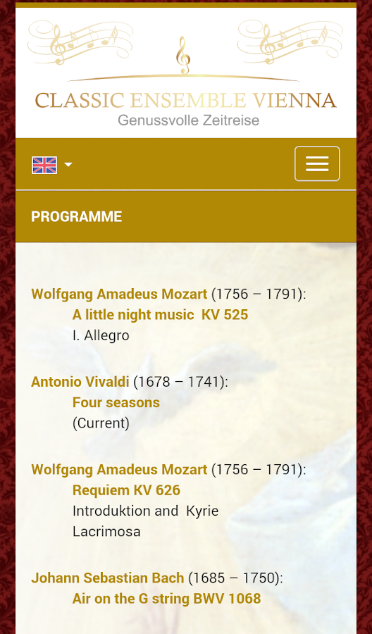 Classic Ensemble Vienna- screenshot