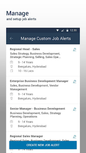 Naukri.com Job Search Aplicaciones (apk) descarga gratuita para Android/PC/Windows screenshot