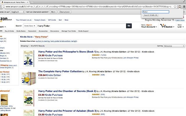 Kindle search UK