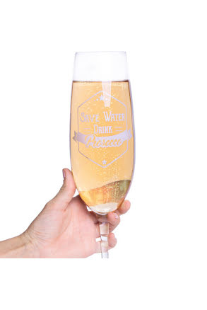 Champagneglas, Save water - drink Prosecco 850 ml