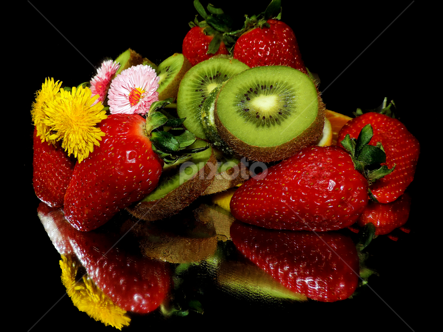 fruits with flowers by LADOCKi Elvira - Food & Drink Fruits & Vegetables ( fruits )