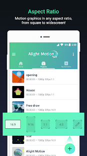 add motion graphics in any aspect ratio in alight motion pro apk