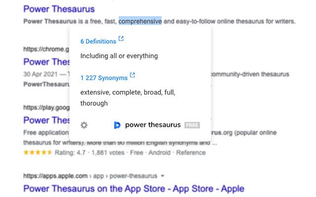 Power Thesaurus