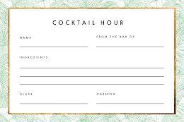 Cocktail Hour - Recipe Card item