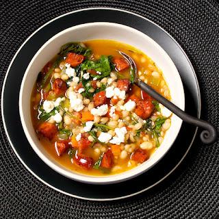 White Bean Stew with Bitter Greens and Chorizo.