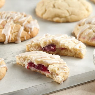 Cranberry-Stuffed Eggnog Cookies.