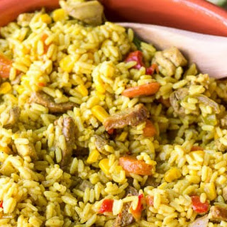 One Pot Cuban Yellow Rice (with Chicken and Sausage).
