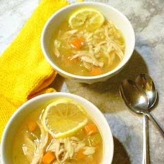 Greek Style Lemony Chicken and Orzo Soup Recipe