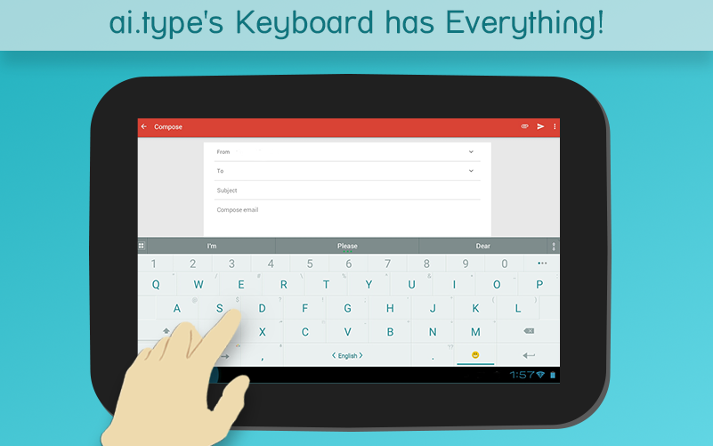 ai.type keyboard Free + Emoji - screenshot