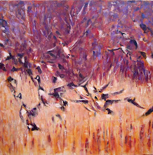 Photo: Flock II - 36 X 36 (raw canvas)