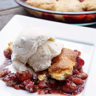 Strawberry and Nutella Cobbler