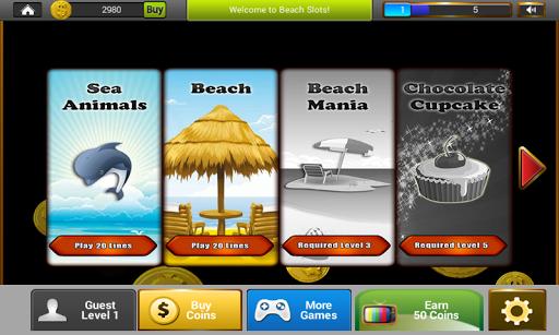 海滩插槽:赌场赢