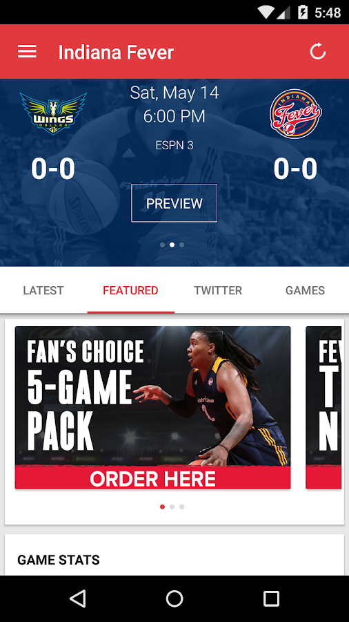 Indiana Fever- screenshot