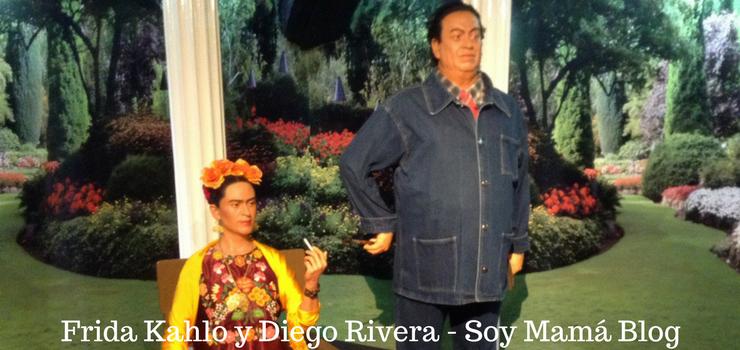 Museo de Cera en Veracruz con niños: Diego Rivera y Frida Kahlo