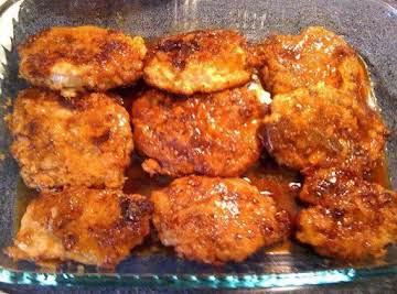 Crunchy Honey Garlic Pork Chops