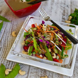 Crunchy Chopped Thai Salad with Peanut Sauce