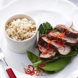Sticky Pork with Brown Rice.