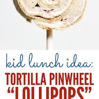 Tortilla Pinwheel Lollipops