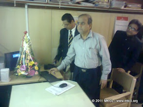 Photo: Shri. Sarangi, Additional Chief Secretary, Home Department, Government of Maharashtra  for MSHRC website launch on September 5, 2011