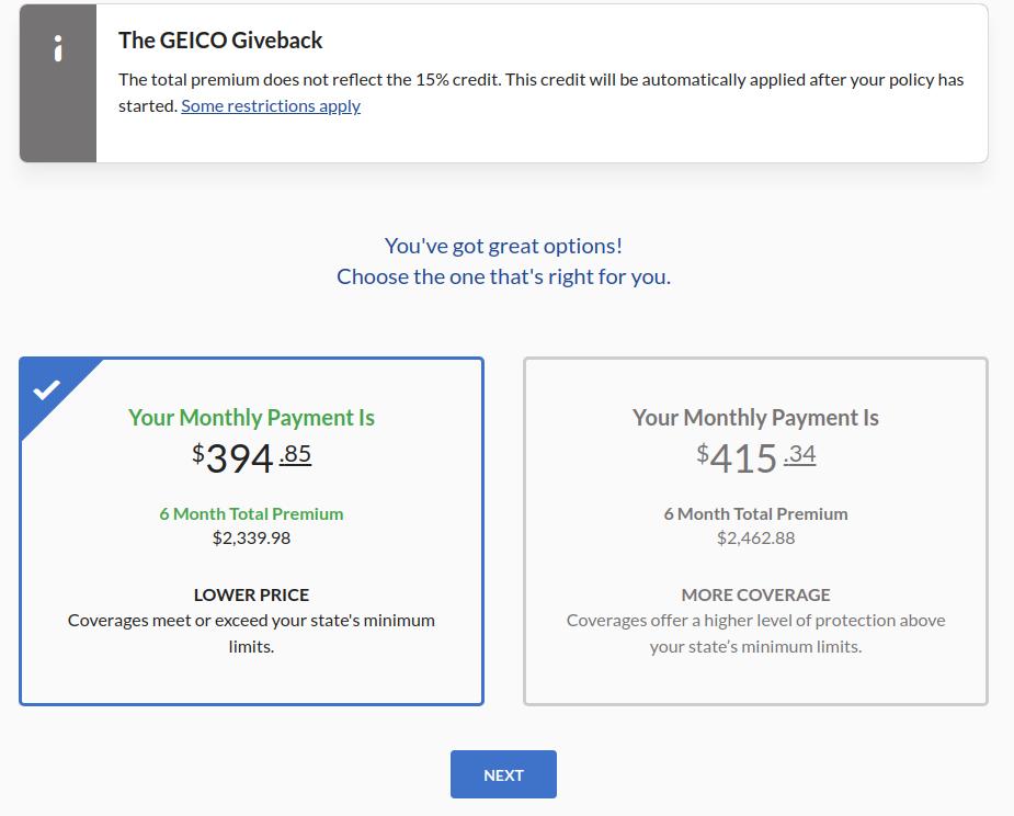 Geico Tesla Model 3 Insurance Quote