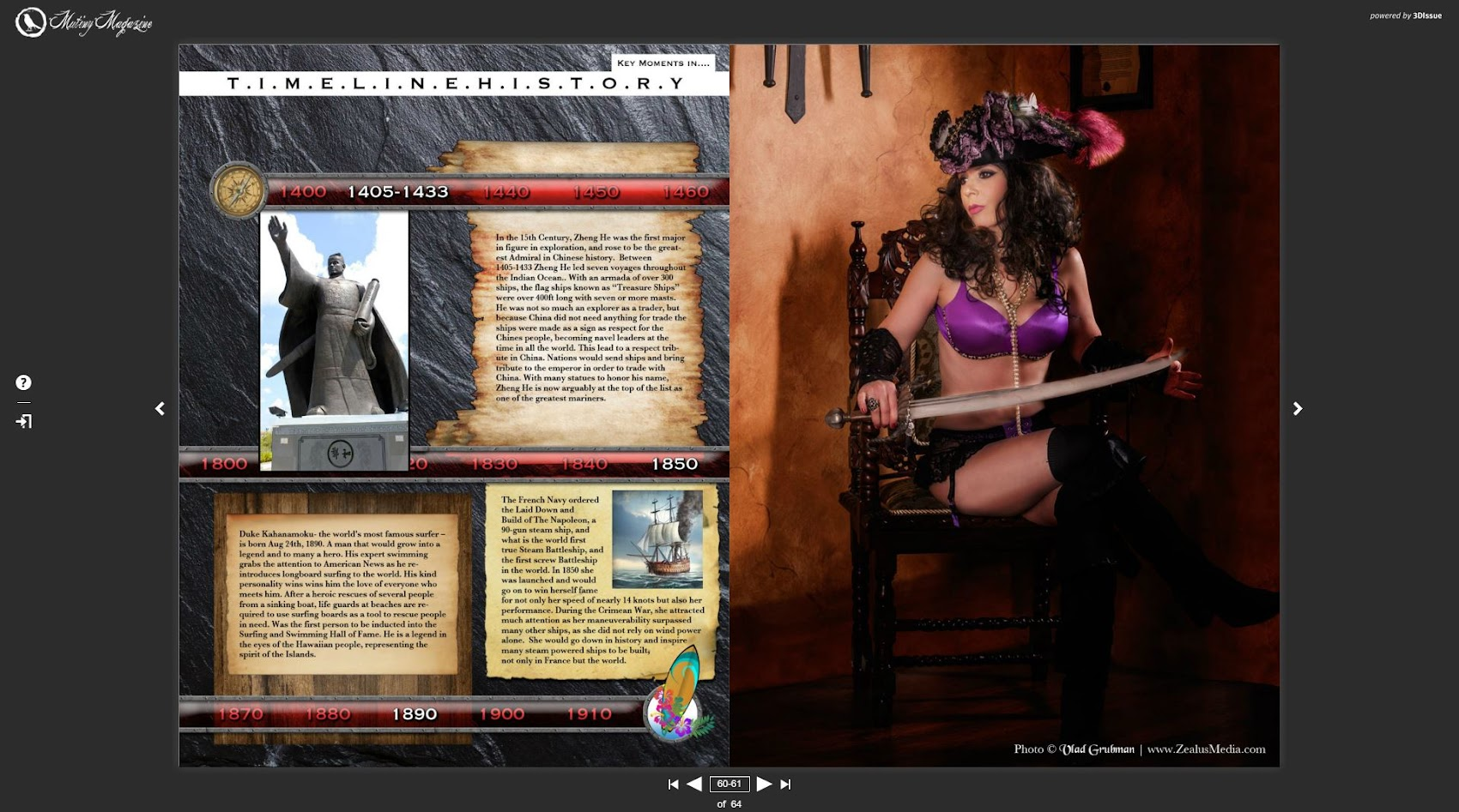 Pirate Swords and Lingerie - published by Mutiny Magazine - photography by Vlad Grubman