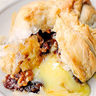 Phyllo Baked Brie with Figs and Walnuts
