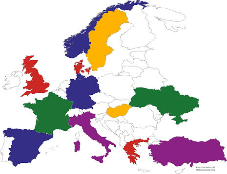 Europakarta Klisterdekal