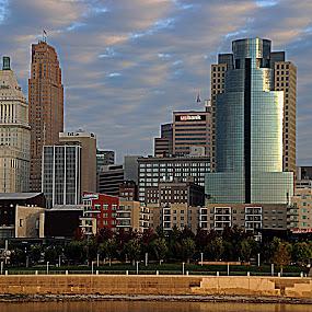 Cincy Buildings by Karen Harris - City,  Street & Park  Skylines ( skyline, cincy, buildings, cityscape, cincinnati )