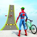 Superhero Cycle Stunt Racing Games :BMX Cycle Game icon