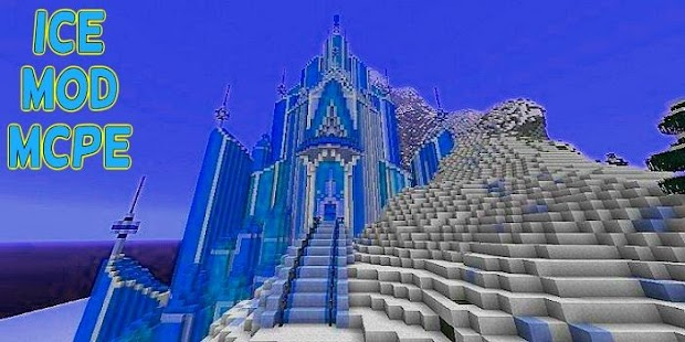 Map Elsas Ice Castle Frozen MCPE Screenshot