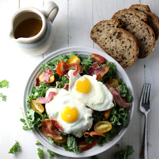 Kale Breakfast Salad with Crispy Pancetta & Dijon Vinaigrette