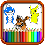 Cartoons Coloring Pages Icon