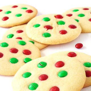 M&M Christmas Sugar Cookies